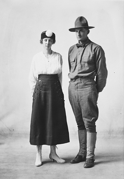 Emery Warren Norman and Elsie Jan Thomas Norman, 1913